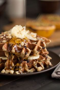 Prepare yourself for the most delicious waffles you have ever tasted! Our gluten free banana chocolate chip waffles are easy to make and sure to impress. Bonus: we have included a vegan option too!