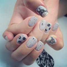 Top 33 Irresistibly Clever Nail Designs for 2019 - Fashionre Trendy Nail Art, Cute Nail Art, Stylish Nails, Easy Nail Art, Beautiful Nail Art, Cute Nails, Korean Nail Art, Korean Nails, Manicure