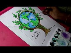 How to Draw Save Trees and Save Nature Color Drawing for Kids Honestly whether you are new or you've been drawing for years and are trying to improve your skills the is one thing I will always suggest. Tree Drawing For Kids, Poster Drawing, Easy Drawings, Save Earth Drawing, Painting For Kids, Drawings, Nature Drawing, Tree Drawing Simple, Earth Drawings