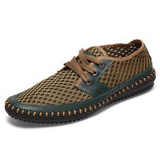 Men Honeycomb Mesh Breathable Quick Drying Casual Beach Shoes - NewChic