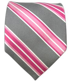 Road Stripe - Gray    Ties - Wear Your Good Tie. Every Day - Road Stripe - Gray Ties