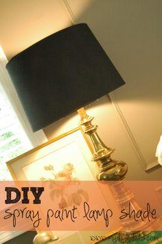 my{DIY}habits:  Spray Painting Lamp Shade