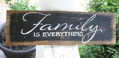 Family Sign  Rustic / Vintage Wood  Repurposed by WhatsOnMyPorch, $13.99