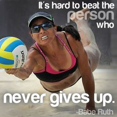 NEVER give up. #inspiration #volleyball #molten