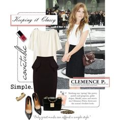 """How To: Clémence Poésy - Keeping it Classy"" by pocaqooka on Polyvore"