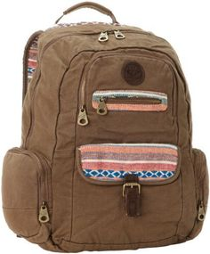 Roxy Luggage Ship Out Backpack, Brown, One Size Roxy. $64.00. Metal zippers. Dimensions, 17-inch 13-inch 5-inch. Hand Wash. 100% cotton. Washed heavy backpack. Multiple pockets