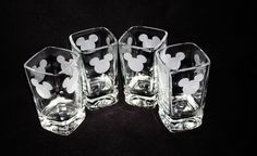 MICKEY MOUSE SHOT GLASSES ~ KITCHEN GLASS SET OF FOUR | Collectibles, Disneyana, Contemporary (1968-Now) | eBay!