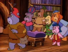 """The trailblazing """"Gummi Bears"""" proved that Disney could produce quality TV animation. Old Disney Tv Shows, Theme Tunes, Bear Images, 80 Cartoons, 90s Childhood, Childhood Memories, Bear Theme, Saturday Morning Cartoons, Bear Party"""