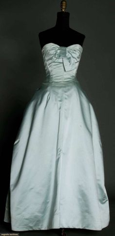 Blue Strapless Ballgown, 1950s, Augusta Auctions, March 21, 2012 NYC, Lot 334