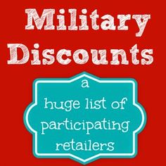 Our Secondhand House: Military Discounts.At These Retailers Military Love, Military Spouse, Military Families, Military Relationships, Airforce Wife, Air Force Mom, Army National Guard, Army Girlfriend, Navy Life