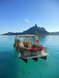 Boat ride in the South Pacific