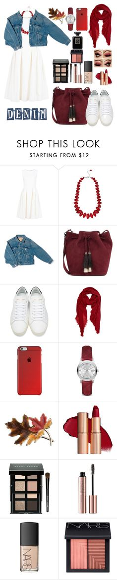 """""""Untitled #106"""" by bayan-salame ❤ liked on Polyvore featuring ADAM, M&Co, Balenciaga, Loeffler Randall, Yves Saint Laurent, Peach Couture, Burberry, Anne Klein, Bobbi Brown Cosmetics and NARS Cosmetics"""
