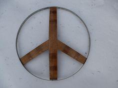 Peace Sign $85.00 Barrel, Peace, Sign, Home Decor, Art, Art Background, Decoration Home, Barrel Roll, Room Decor