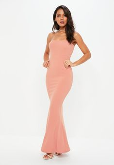 Missguided - Pink Crepe Sleeveless Maxi Dress