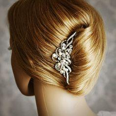 AUDREY Vintage Inspired Wedding Hair Comb by GlamorousBijoux
