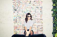 Shirt, Equipment; Sunglasses, Illesteva; Skirt, The Kooples
