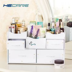 31054db818fb HECARE Plastic Makeup Organizer Waterproof Cosmetic Container Jewelry  Container for Cosmetic High-capacity Make Up Storage Case