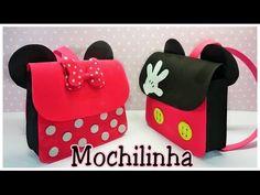 Como fazer mochilinha da Minnie e mickey em EVA - YouTube