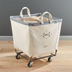 Steele ® Square Canvas Bin Laundry Basket On Wheels, Rolling Laundry Basket, Laundry Bin, Laundry Room Storage, Laundry Rooms, Laundry Baskets, Bathroom Storage, Laundry Decor, Storage Room