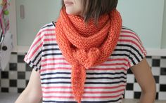 Simple luxury scarf - free knitting pattern - Pickles; size 15 circular needles, 2 strands yarn, garter stitch