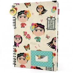 Caderno Universitário Frida Carpe Diem http://www.loopday.com.br/frida