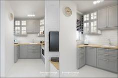© Devangari Design www. Kitchen Inspiration, Interior Inspiration, Coin, Apartments, Studios, Kitchen Cabinets, Organization, Living Room, Interior Design