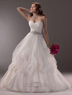 Criss-cross Ruched Sweetheart Ball Gown Wedding Dress