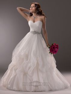 Criss-cross Ruched Sweetheart Ball Gown Wedding Dress