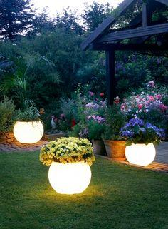 DIY Glow In The Dark Planters.