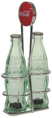 Coke Coca-Cola Salt and Pepper Set with Rack