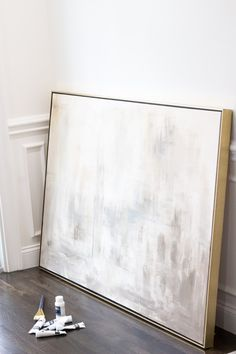 DIY Abstract Canvas Painting - Hello Hughes