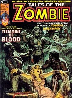 Tales of the Zombie #7 | pulp cover art comics terror vintage