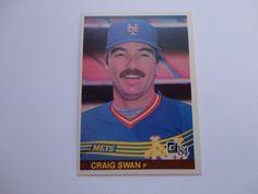 Craig Swan Donruss 1984 Baseball Card.
