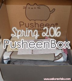 The spring 2016 Pusheen Box review! This quarterly subscription box is full of exclusive Pusheen merchandise that isn't available anywhere else online.  Pusheen Box | Pusheen The Cat | Kawaii | Subscription Box  Review | Japan | Spring | Kitchen Apron | Vinyl Figure | Unboxing |