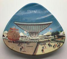 Canada Montreal Expo 67 Atomic Triangle Dish Plate Ornamold Ornamin 4130 MCM