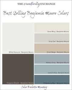 Best Selling Benjamin Moore Paint Colors Color Palette Monday... Nimbus Gray