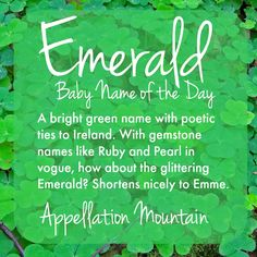 emerald baby name - Google Search
