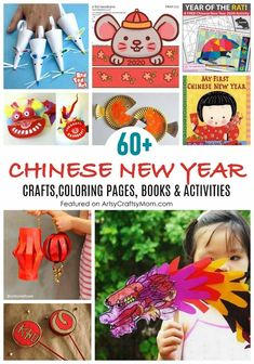 Chinese New Year Crafts For Kids, Chinese New Year Dragon, Chinese New Year Activities, Chinese Crafts, New Years Activities, Color Activities, Art For Kids, Activities For Kids, Literacy Activities