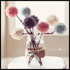 club Ich Folge pom pom flowers Best Picture For DIY Valentines Day projects For Your Taste You are looking for something, a Diy Craft Projects, Diy Home Crafts, Craft Stick Crafts, Crafts To Make, Diy Home Decor, Crafts For Kids, Preschool Crafts, Craft Ideas, Pom Pom Crafts