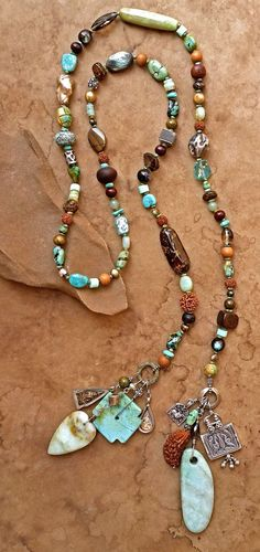 Spirit Beads with Peruvian Opal, Turquoise, and many treasures from India https://www.etsy.com/listing/275506352/spirit-beads-for-meditation-prayer-india?ref=shop_home_listings