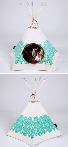 I told Kate today making cat/small dog teepees out of vintage fabric should be our new business plan. :)