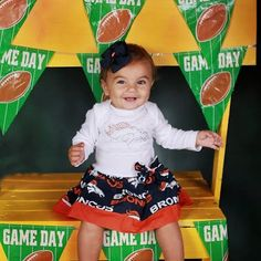 Free Shipping-Use code FREESHIP-NFL Bling Denver Broncos Sport Teams  Dress Baby/Toddlers/Girls Football Teams on Etsy, $32.00
