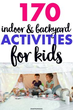 Stuck at home and kids bored? Here are some amazing and fun indoor activities and outdoor activities (backyard activities) for kids and toddler activities to last them hours of fun. Outdoor Activities For Toddlers, Summer Activities, Kid Activities, Educational Activities, Gentle Parenting, Kids And Parenting, Parenting Tips, Backyard For Kids, Backyard Ideas