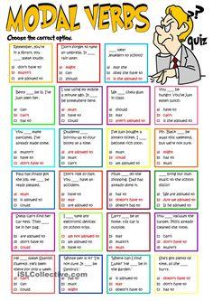 Modal verbs - quiz Language: English Grade/level: Intermediate School subject: English as a Second Language (ESL) Main content: Modal verbs Other contents: