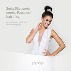The slovakian model and TV host Sona Skoncova meets original Papanga® hair ties. Visit www.papanga.com and shop up to 45 sensational colors in 3 sizes. Premium quality guaranteed! Thanks to our 3 sizes suitable for all hair types! #papanga #hairties #spiral #scrunchies #sonaskoncova #beauty #slovakia #quality ... Picture: Elixir Salon / Papanga SK