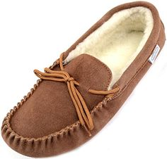 Men's Slippers - Snugrugs Mens Suede Sheepskin Moccasin Slippers With Soft Sole -- To view further for this item, visit the image link. (This is an Amazon affiliate link)