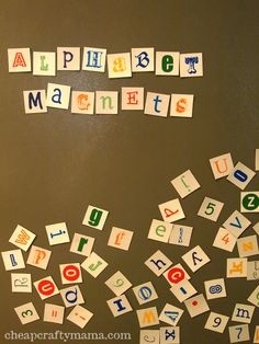 Alphabet Magnets- free printable project from Cheap Crafty Mama!
