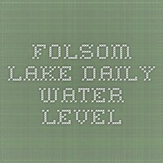 folsom lake daily water level