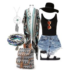 Festival Fun by haley-baker-i on Polyvore featuring Topshop, Ravel, Forever 21, UNIONBAY, Bling Jewelry and River Island