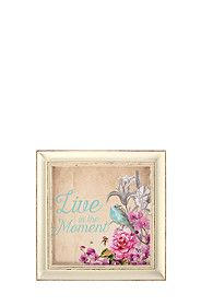 LIVE IN THE MOMENT FRAMED WALL ART